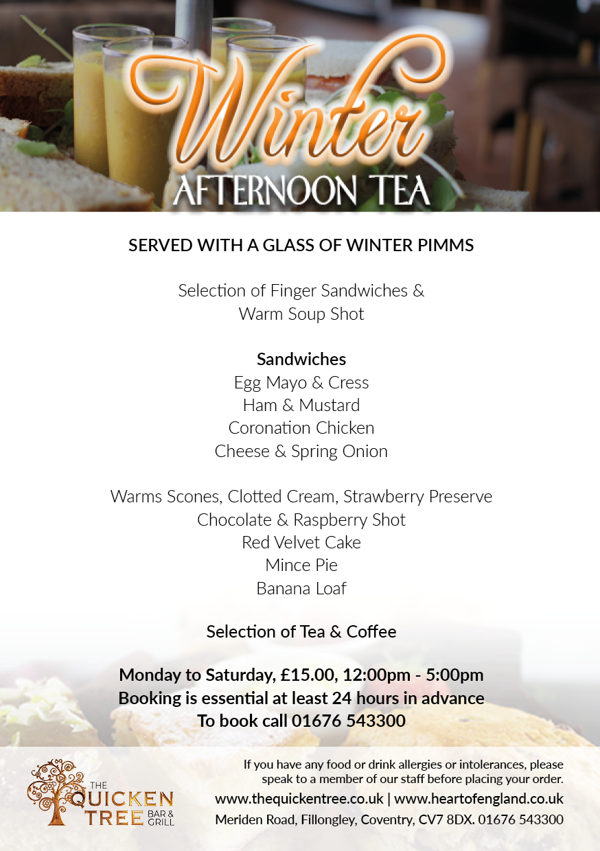 Winter Afternoon Tea